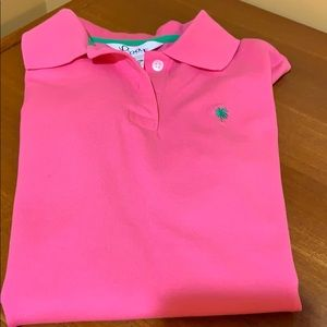 Lilly Pulitzer Pink Polo Size Girls XS NWOT